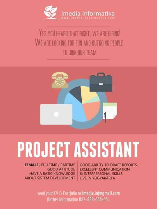 Lowongan Project Assistant Imedia Informatika